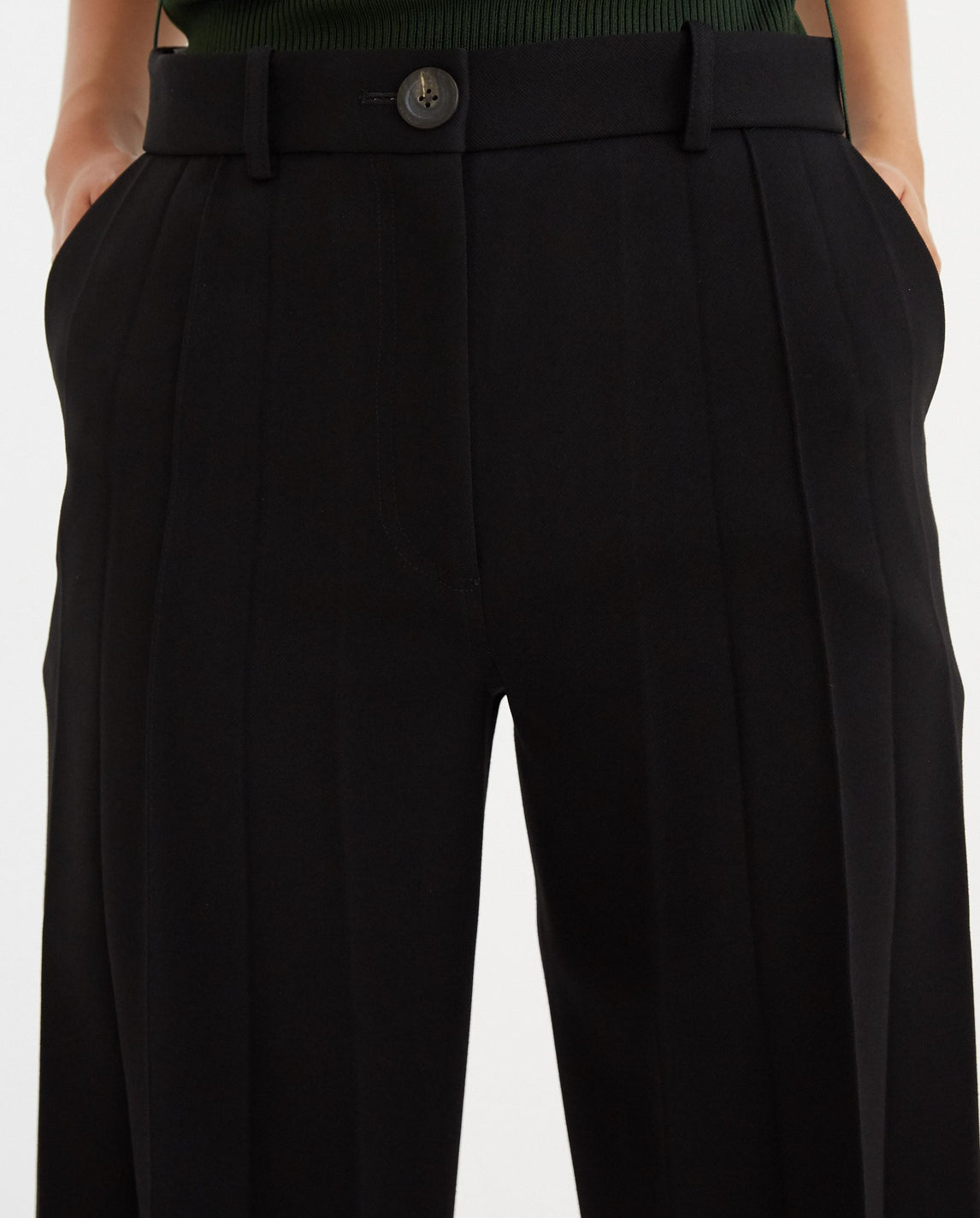 Front Pleated Pants - Black UNISEX PETER DO
