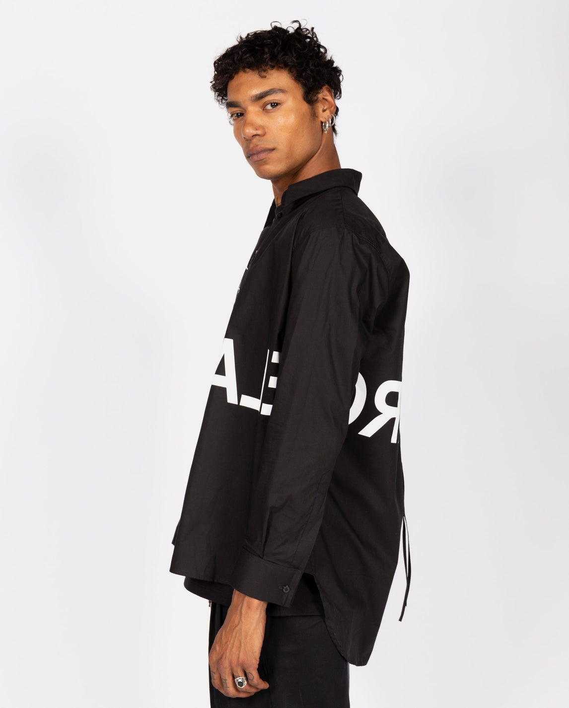 Graphic Print Shirt - Black UNISEX MM6 MAISON MARGIELA