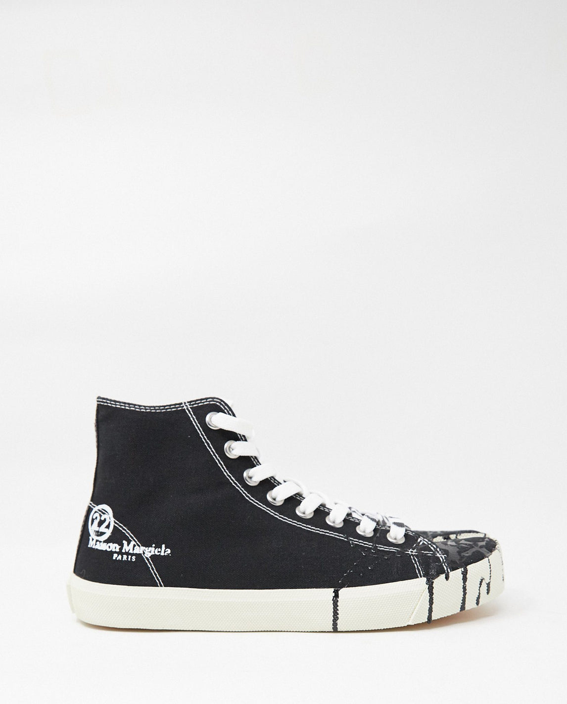 High-Top Tabi Sneakers - Black MENS MAISON MARGIELA