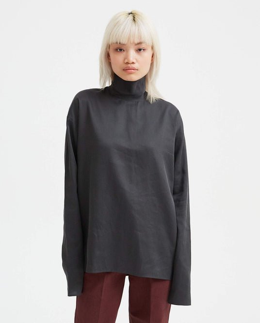 Highneck Second Skin - Grey WOMENS LEMAIRE