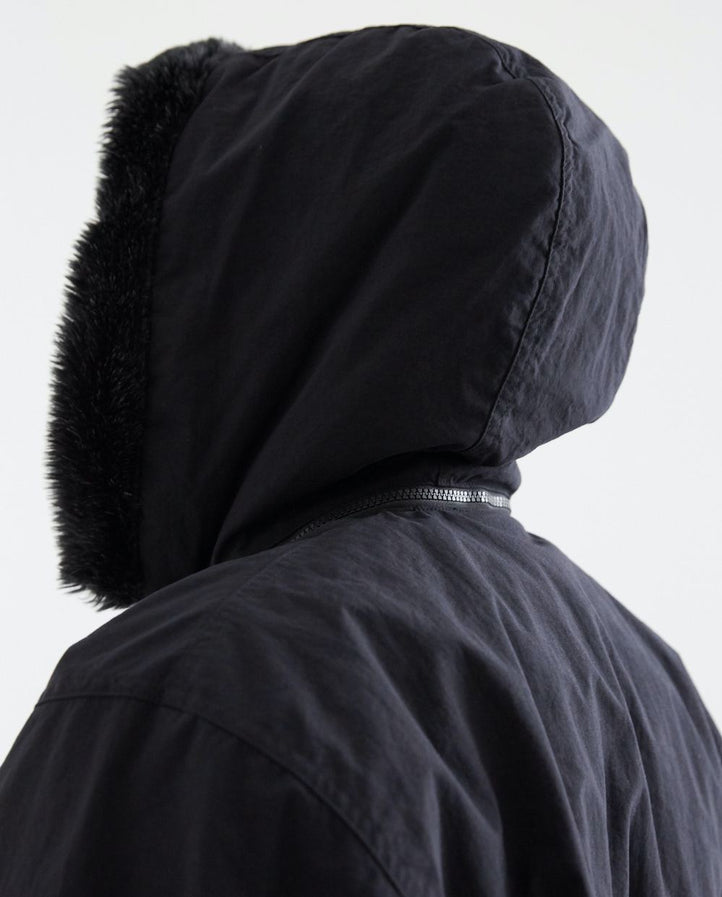 Hooded Zip Coat - Black UNISEX CAV EMPT