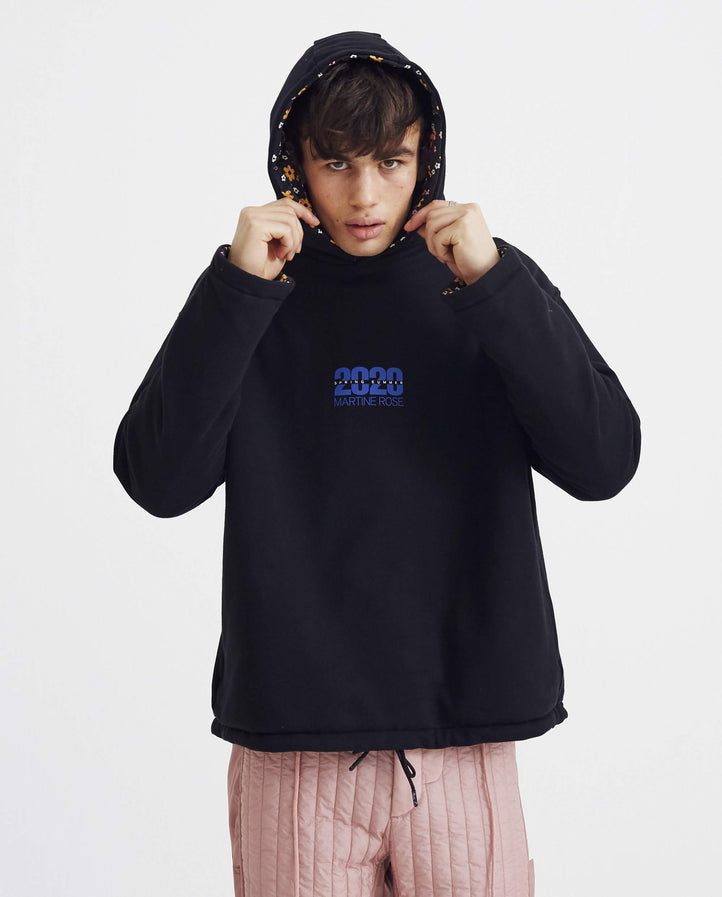 Hoodie with 2020 Artwork - Black UNISEX MARTINE ROSE