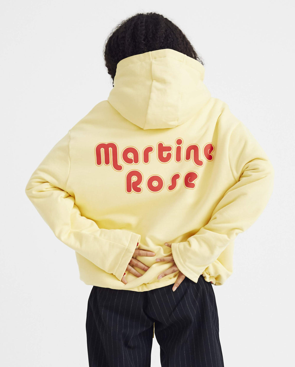 Hoodie with Clown Artwork - Yellow UNISEX MARTINE ROSE