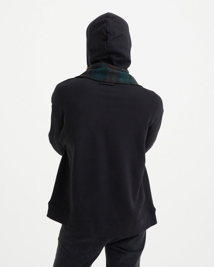 Hoodie with Detachable Scarf - Black MENS RAF SIMONS