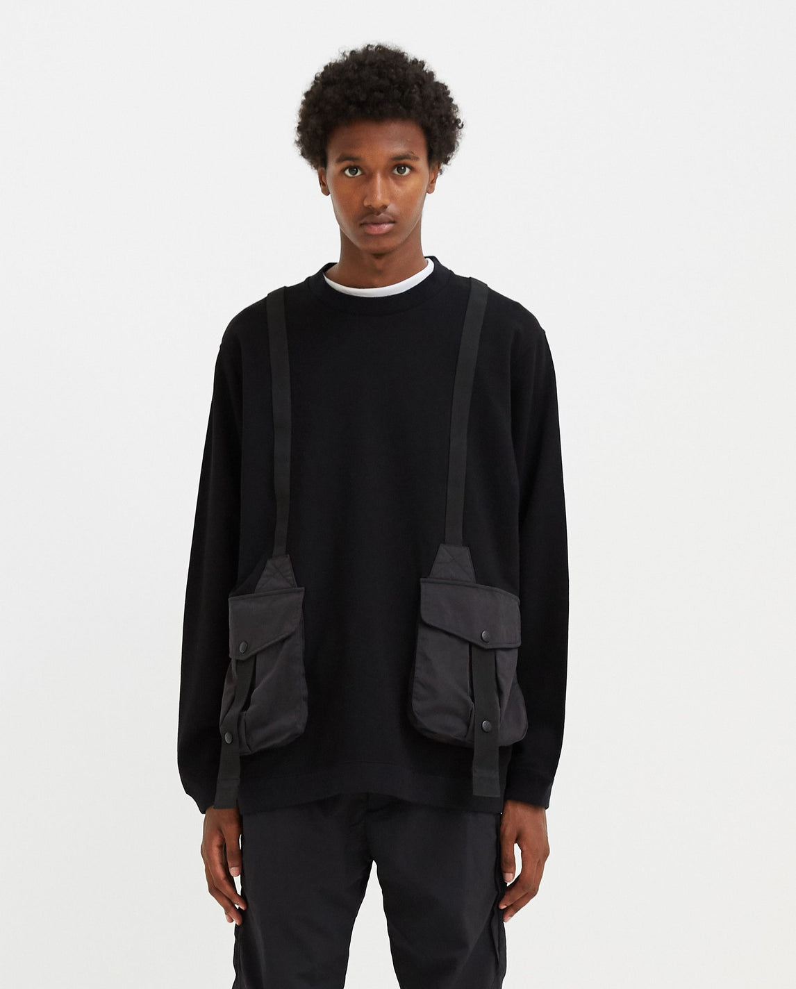Hunting Pocket Taped Sweatshirt - Black MENS WHITE MOUNTAINEERING