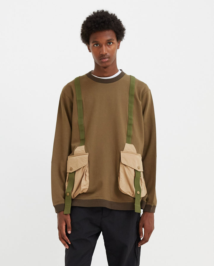Hunting Pocket Taped Sweatshirt - Khaki MENS WHITE MOUNTAINEERING