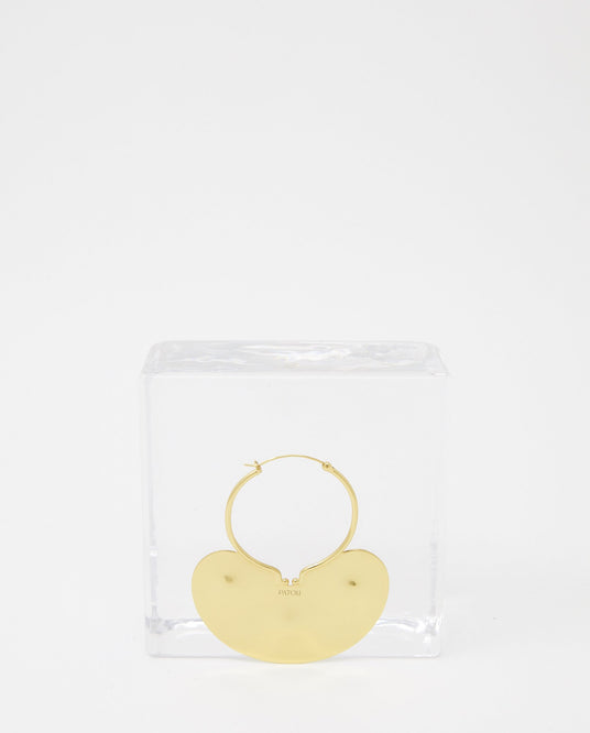 Iconic Small Hoop Earrings - Gold WOMENS PATOU