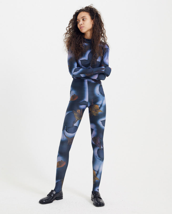 Jersey Leggings - Blue Print WOMENS DELADA