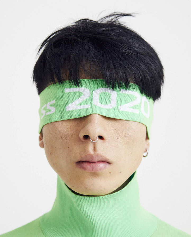 Knit Headband - Neon Green MENS XANDER ZHOU