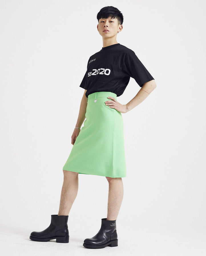 Knit Skirt with Accessory - Neon Green MENS XANDER ZHOU