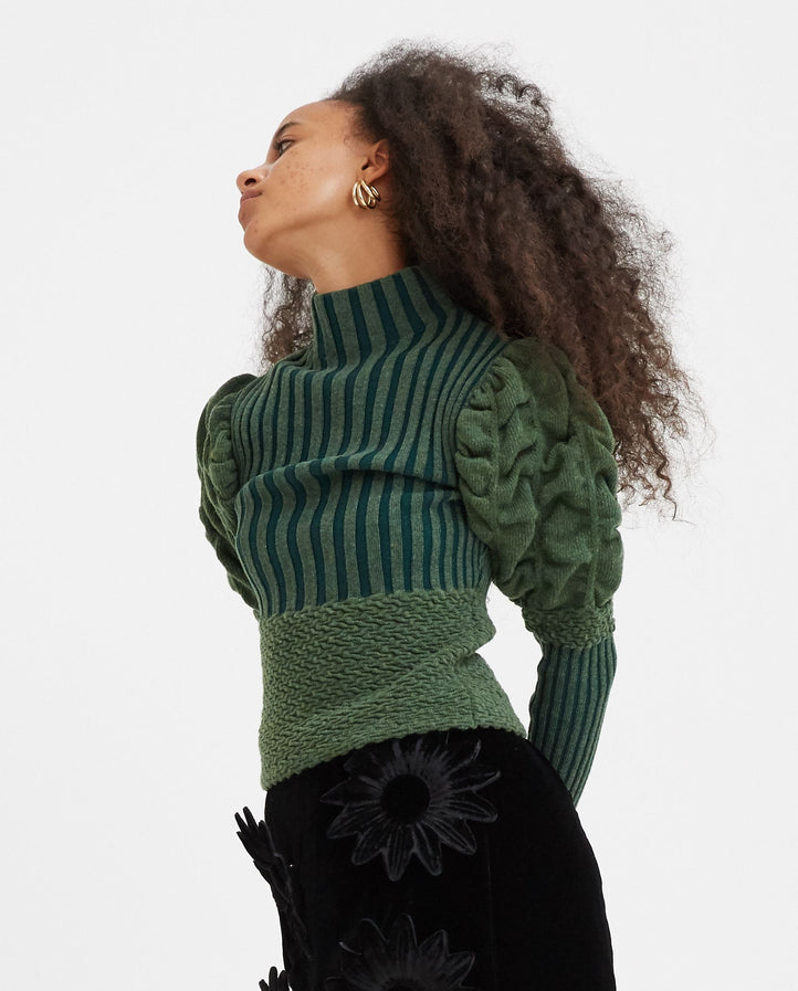 Knit Top - Green WOMENS PAULA CANOVAS DEL VAS