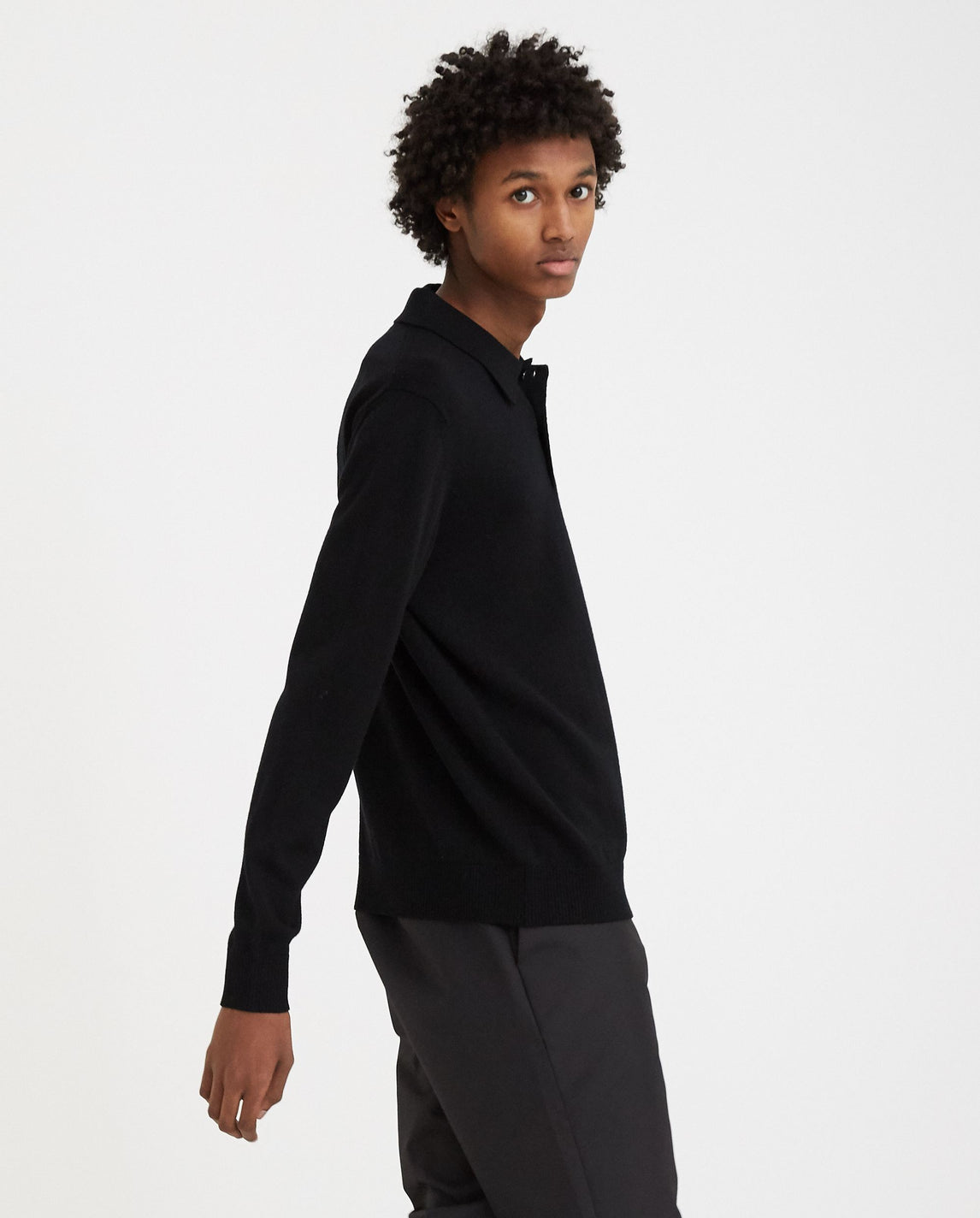 Knitted Polo - Black MENS A-COLD-WALL*