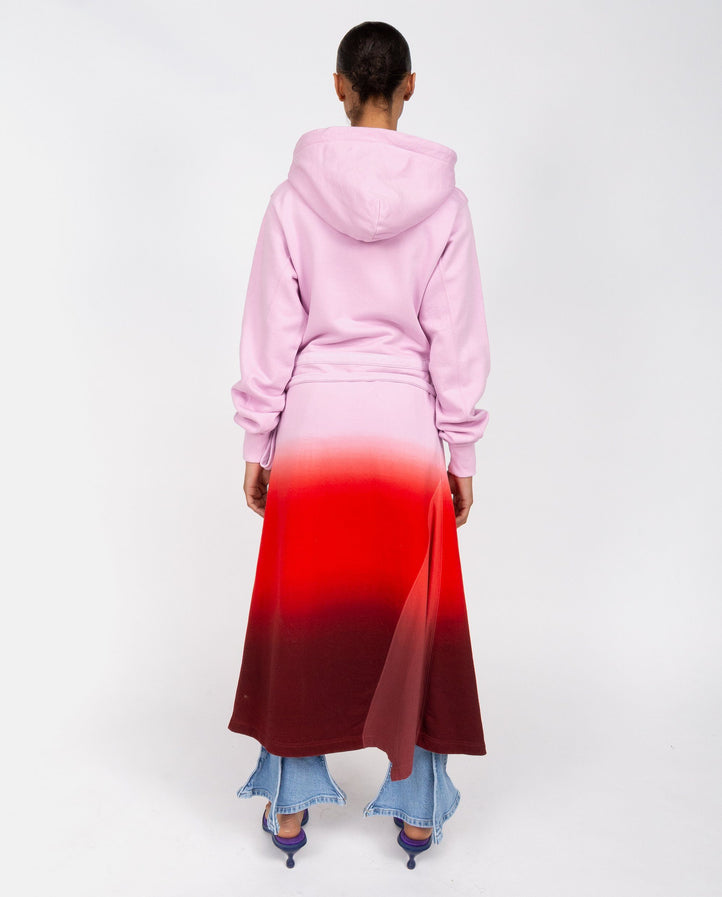 Knitted Tie Dye Hooded Dress - Pink / Multi UNISEX AMBUSH