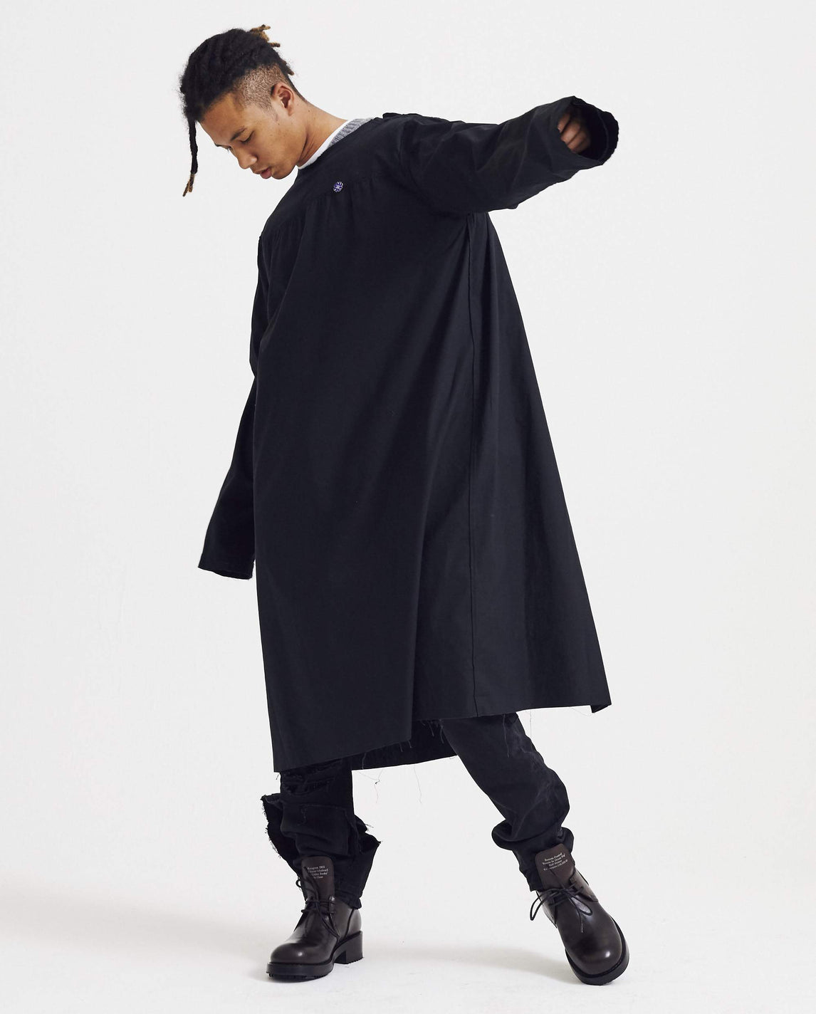 Labo Coat with Fron Yoke - Black MENS RAF SIMONS