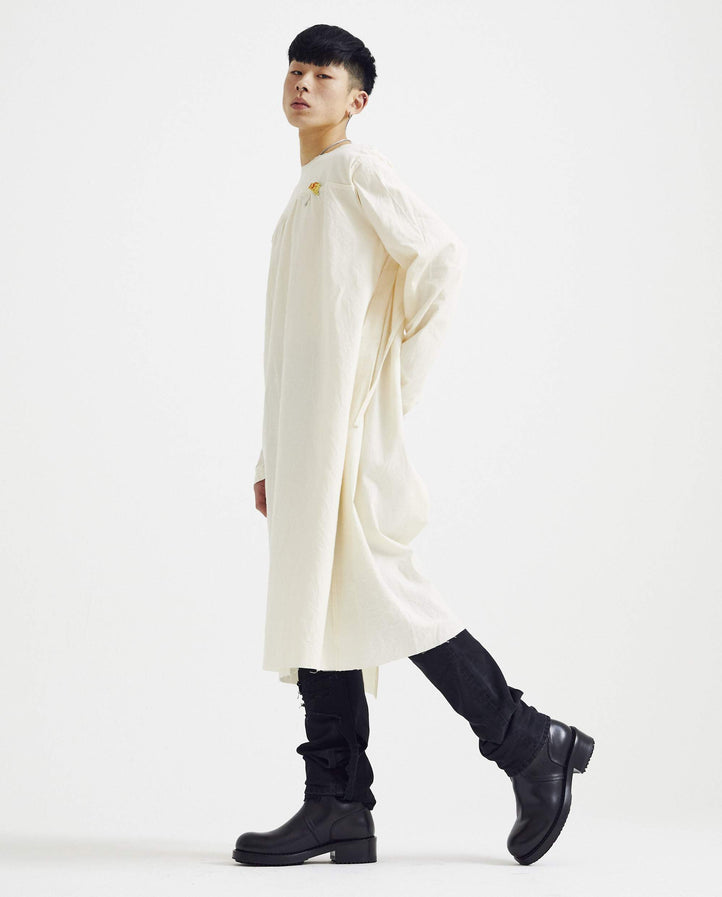 Labo Coat With Fron Yoke - Ecru MENS RAF SIMONS