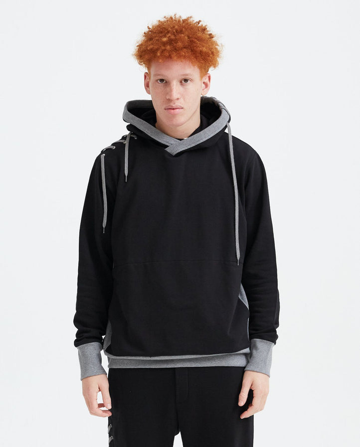 Laced Hoodie - Black/Grey MENS CRAIG GREEN