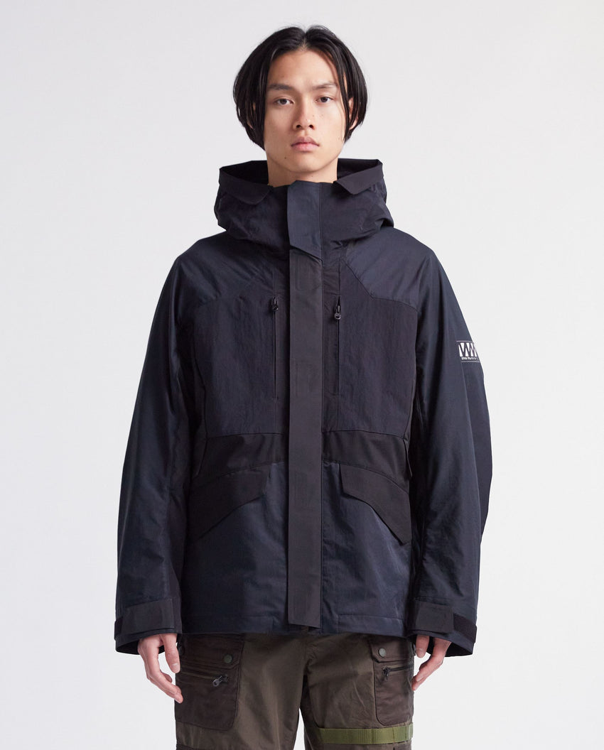 Layered Mountain Parka - Navy / Black MENS WHITE MOUNTAINEERING