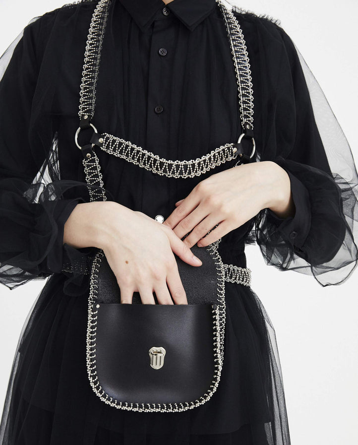 Leather Harness Bag - Black WOMENS NOIR KEI NINOMIYA