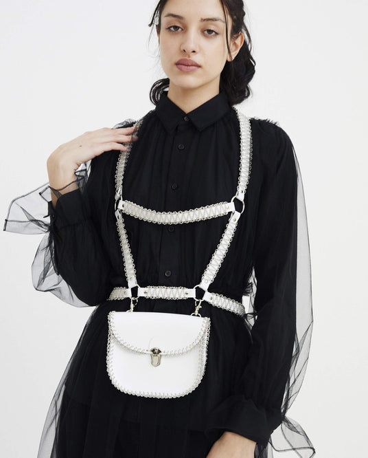 Leather Harness Bag - White WOMENS NOIR KEI NINOMIYA