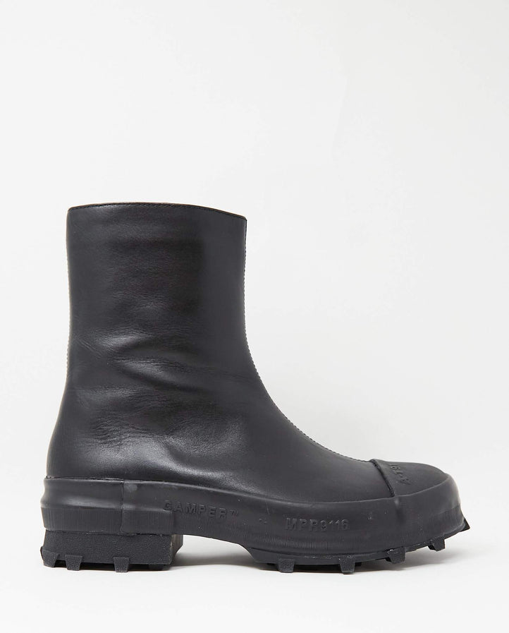 Leather Traktori Boots - Black MENS CAMPER