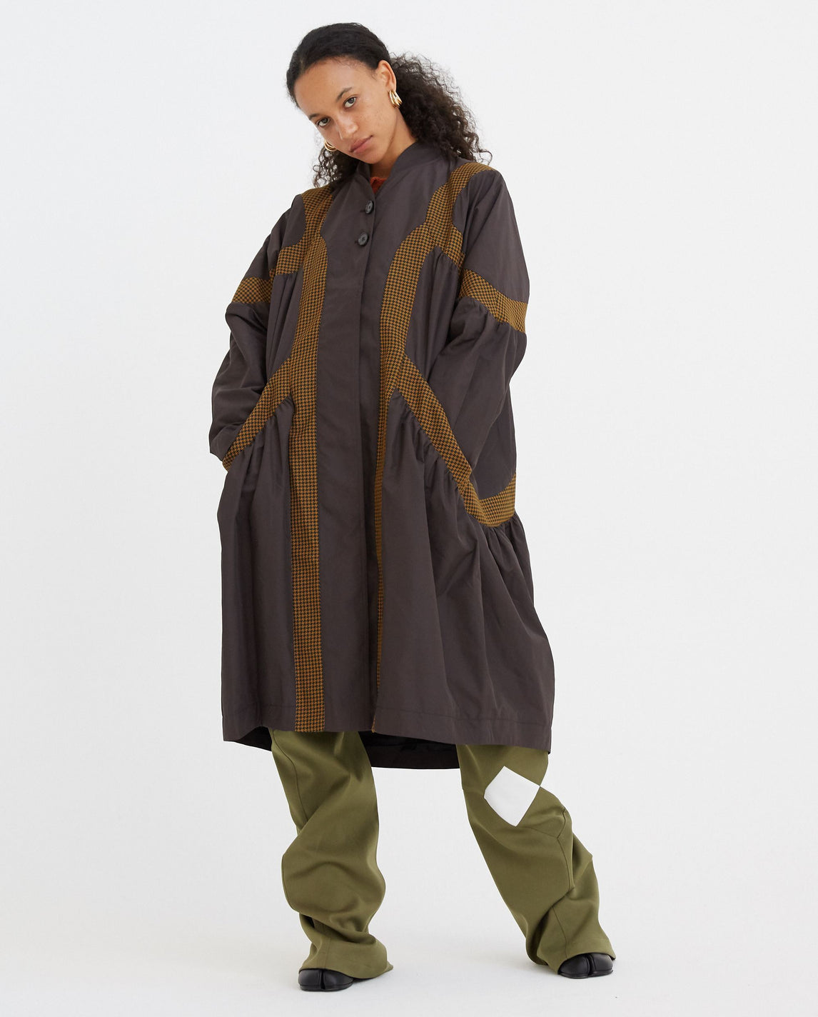 Line Insert Raincoat - Brown WOMENS KIKO KOSTADINOV