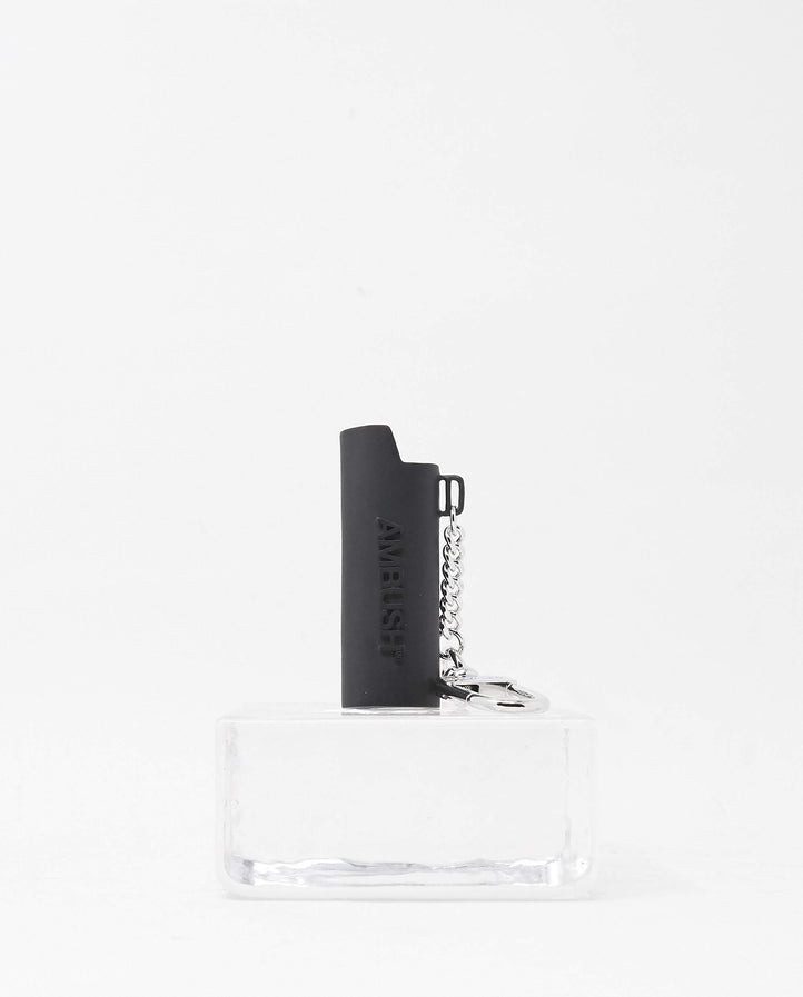 Logo Lighter Case Key Chain - Black UNISEX AMBUSH