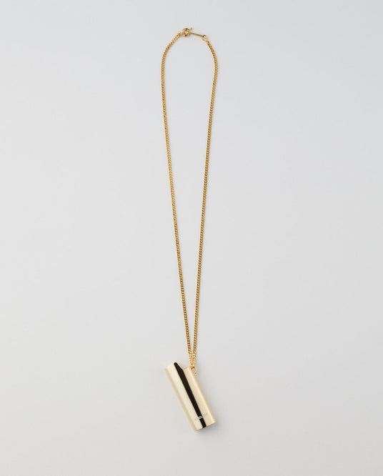 Logo Lighter Case Necklace - Gold UNISEX AMBUSH