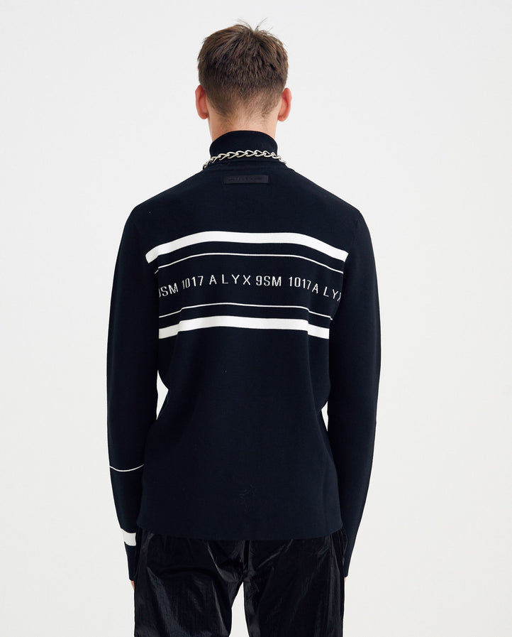 Logo Stripe Turtleneck - Black MENS 1017 ALYX 9SM