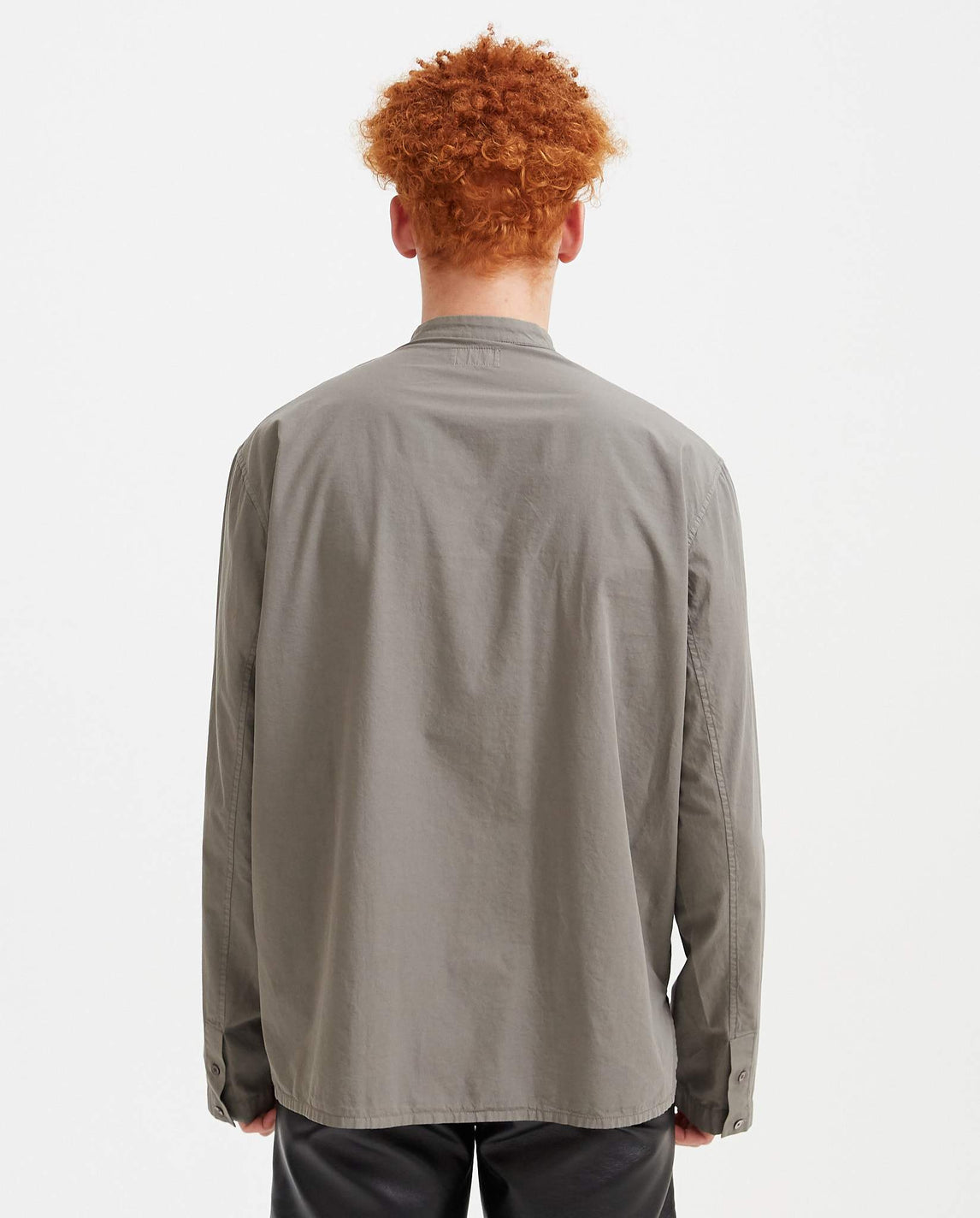 Long Sleeve Blouse Top - Grey MENS LEMAIRE