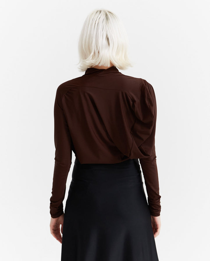 Lycra Drape Top - Brown WOMENS JOHANNA PARV