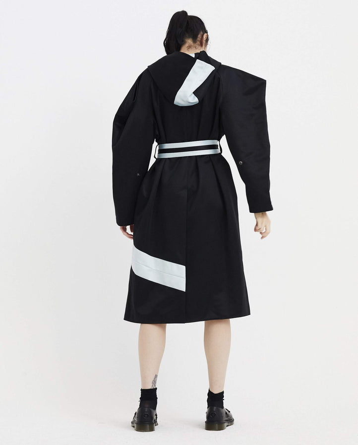 Maeve Hooded Trench Coat - Black WOMENS KIKO KOSTADINOV