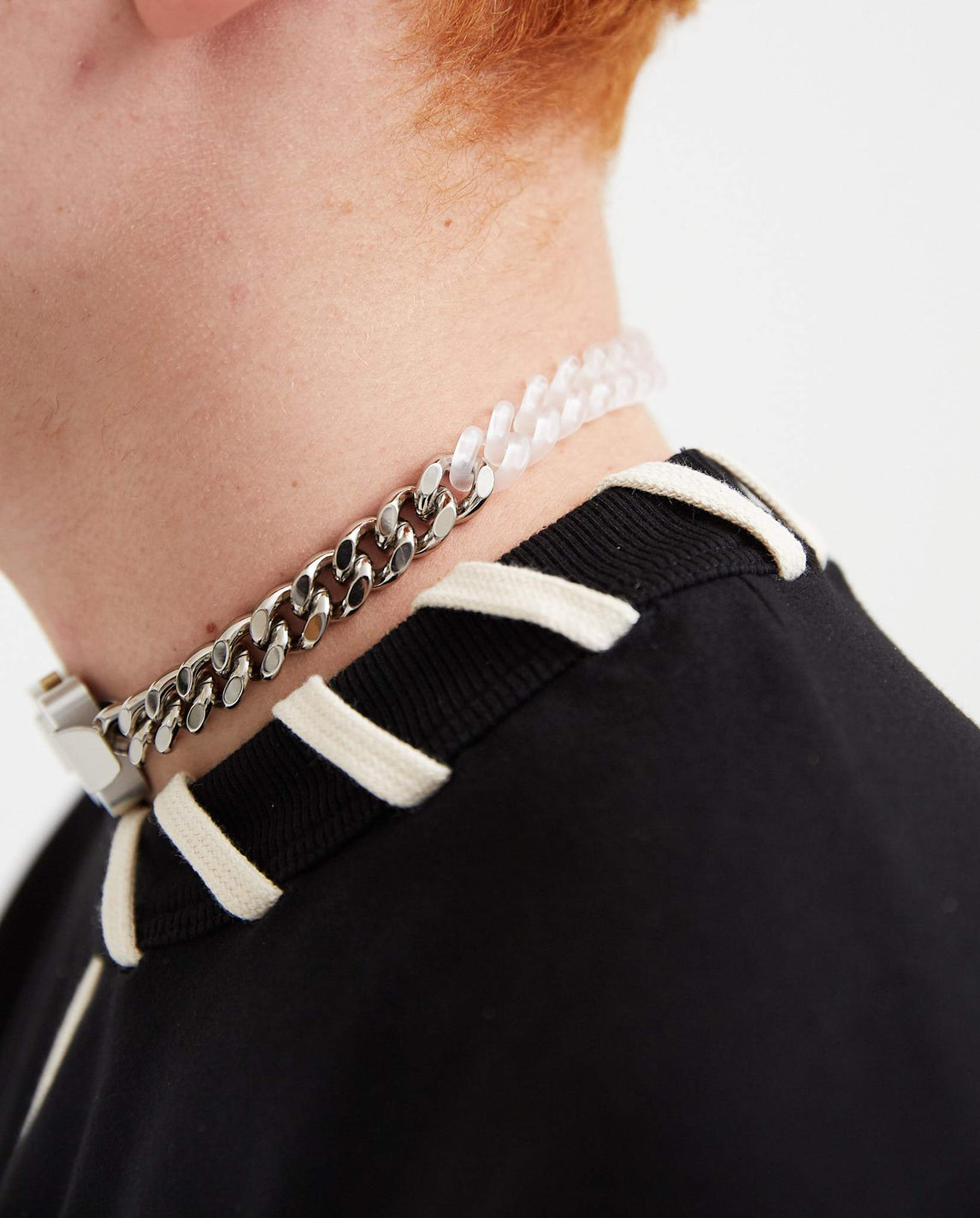 Metal and Nylon Chain Necklace - Silver UNISEX 1017 ALYX 9SM