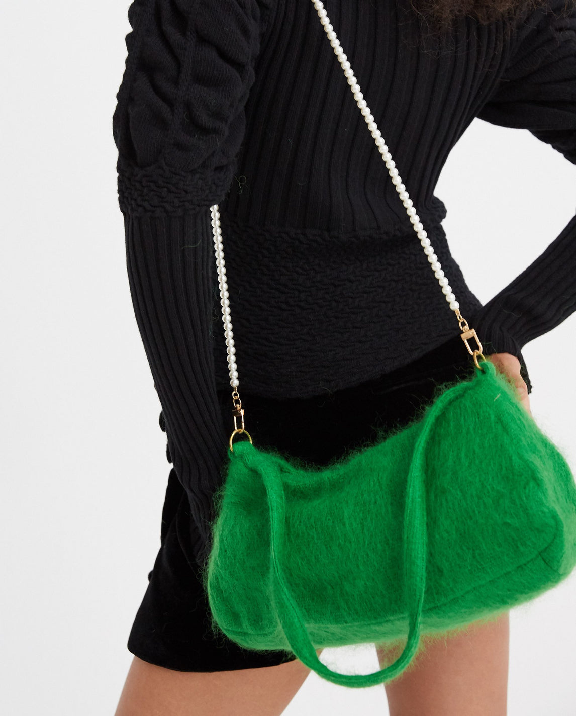 Mohair Lady Bag - Jade Green WOMENS SAMUEL GUI YANG