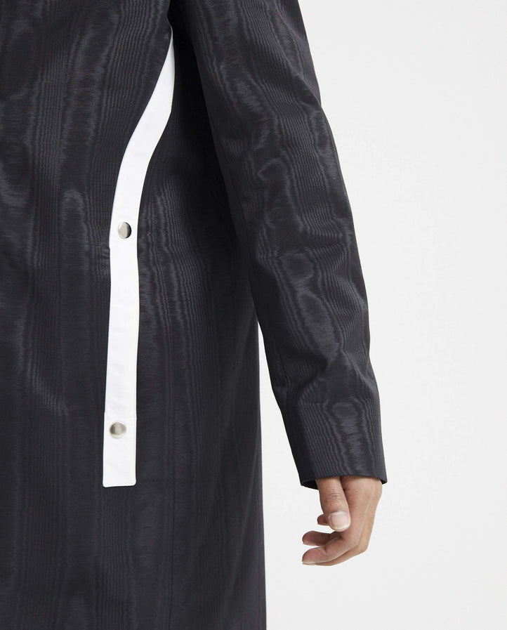 Moire Overcoat - Black MENS NICOMEDE