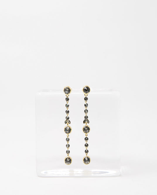 Murano Single Drop Earring - Gold/Smoke UNISEX COLVILLE