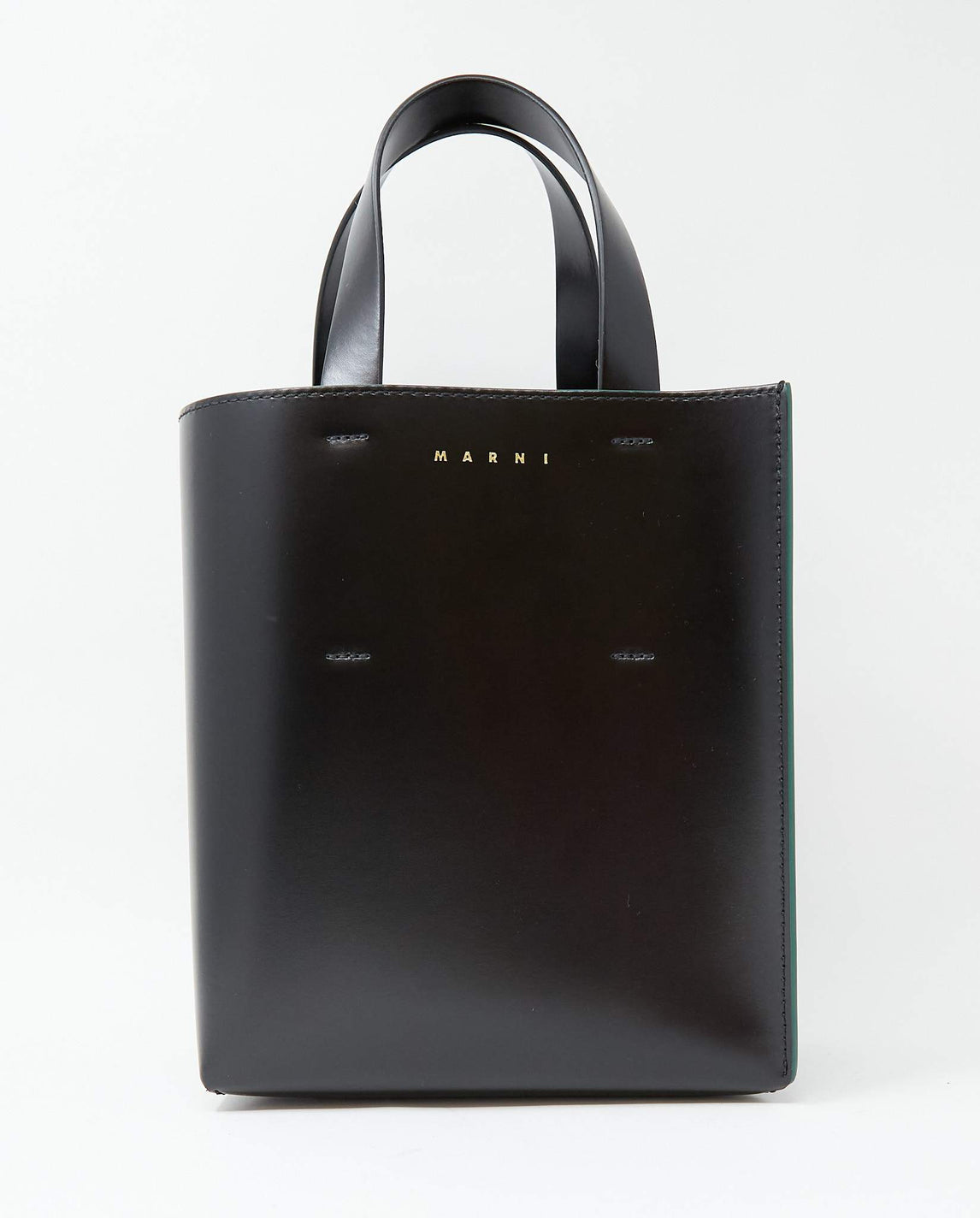 Museo Leather Shoulder Bag - Black WOMENS MARNI