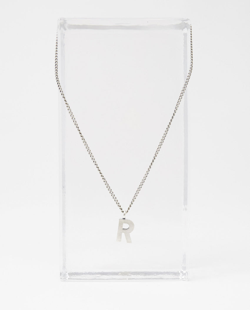 Necklace With R Pendant - Silver MENS RAF SIMONS