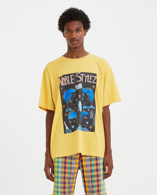 Noble Stylez T-Shirt - Yellow MENS KENNETH IZE