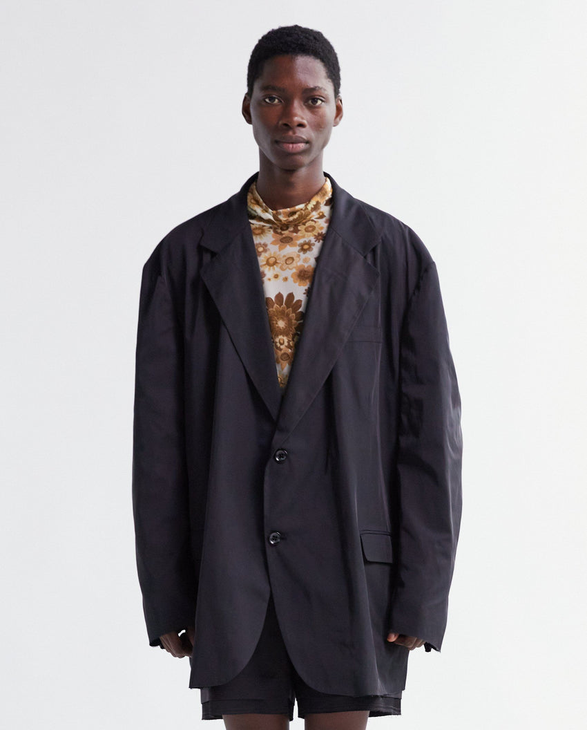Nylon Big Blazer - Black MENS RAF SIMONS
