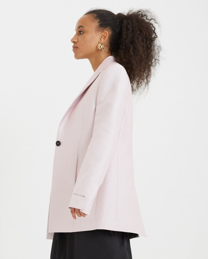 One Button Tailored Jacket - Light Pink WOMENS 1017 ALYX 9SM