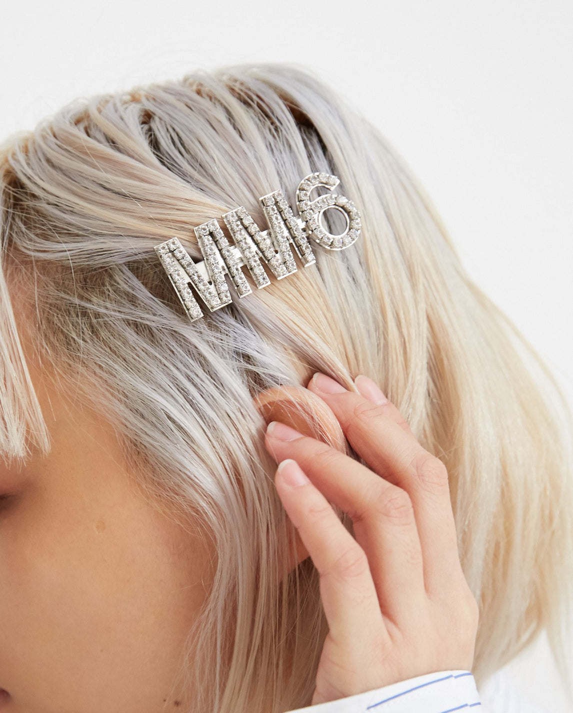 Ornamental Hair Clip -Silver WOMENS MM6 MAISON MARGIELA