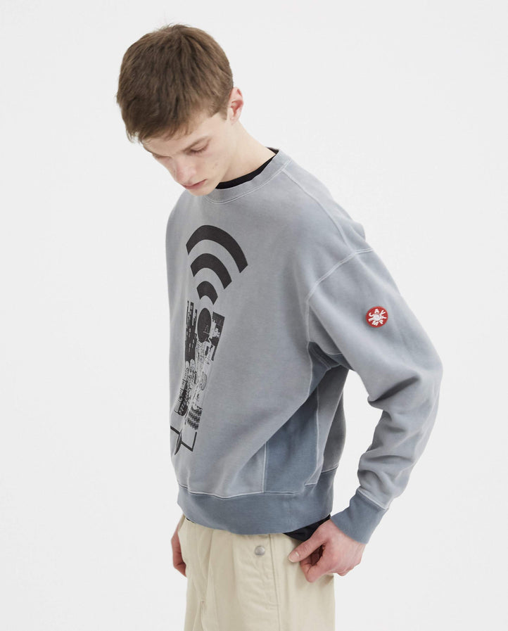 Overdye MD Range Crew Neck - Light Grey MENS CAV EMPT