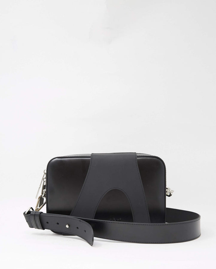 Overlay Leather Cross Body Bag - Black MENS A COLD WALL