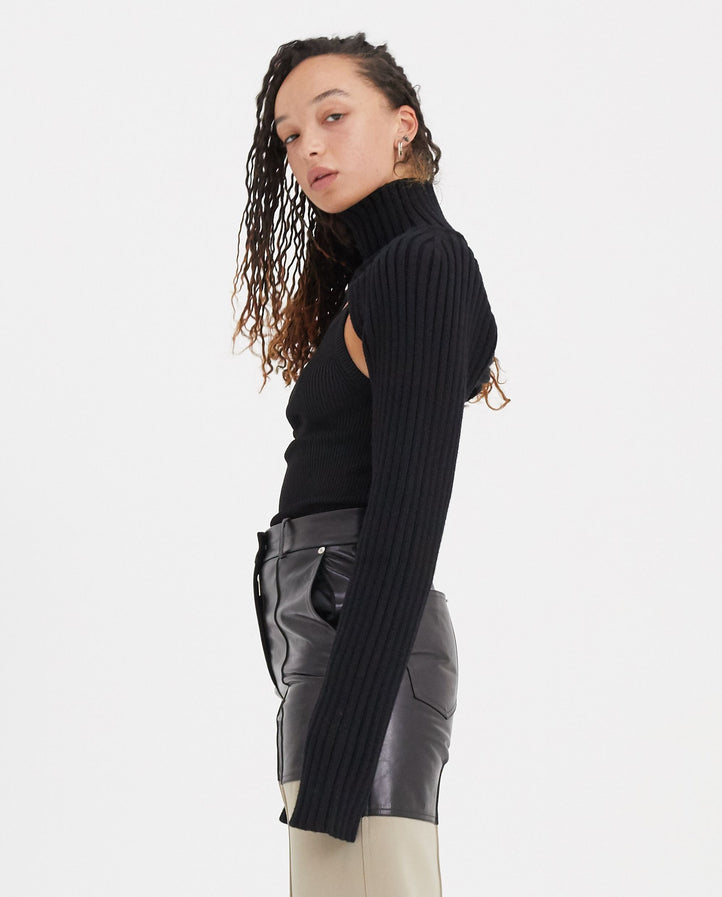 Oversized Sleeves - Black WOMENS PETER DO