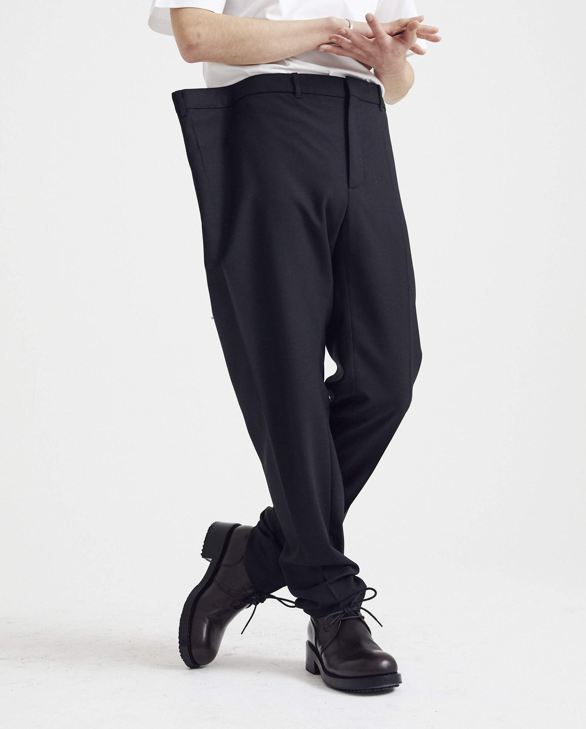 Oversized Waist Trousers - Black UNISEX Y / PROJECT