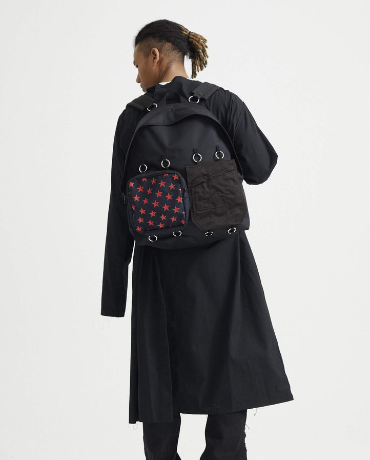 Padded Double Pocket Red Star Backpack - Black UNISEX EASTPAK x RAF SIMONS