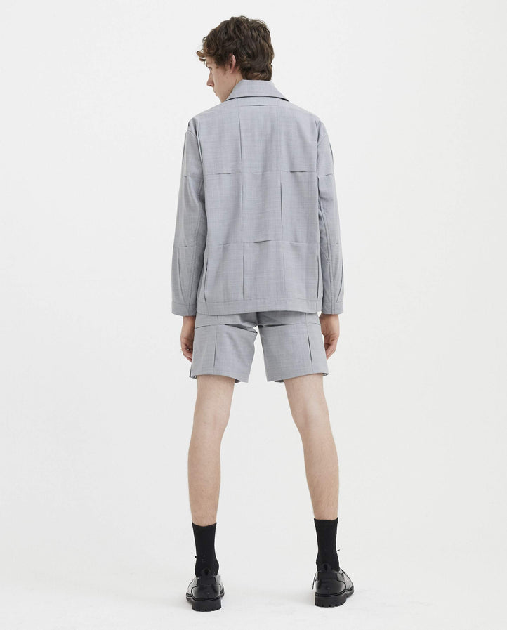 Panelled Jacket - Grey MENS CORNERSTONE