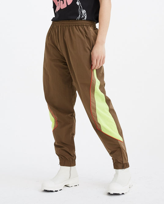 Panelled Track Pant - Brown/Fluorescent UNISEX MARTINE ROSE