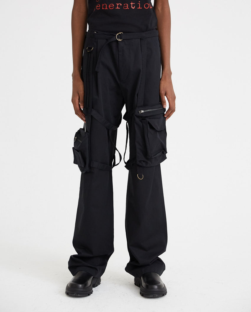 Pants With Pocket Frame - Black MENS RAF SIMONS