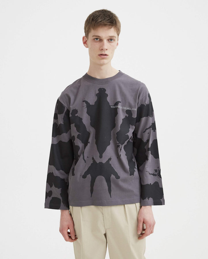 Photochromic Ink Blot T-Shirt - Grey MENS YOUTHS IN BALACLAVA